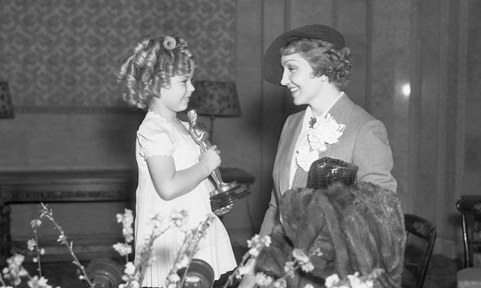 "<p>This award was a special honorary one given to a juvenile performer under the age of eighteen for their ""outstanding contributions to screen entertainment"". It was awarded at the discretion of the Board of Governors of the Academy of Motion Picture Arts and Sciences and the trophy was a miniature version of an Oscar.<br>Shirley Temple, aged, six, was the first Juvenile Award winner, taking home the statue at the Seventh Academy Awards in 1935. The last time it was given out was at the 33rd Academy Awards in 1960, to a 14-year-old Hayley Mills for her role in <em>Pollyanna</em>. </p>"