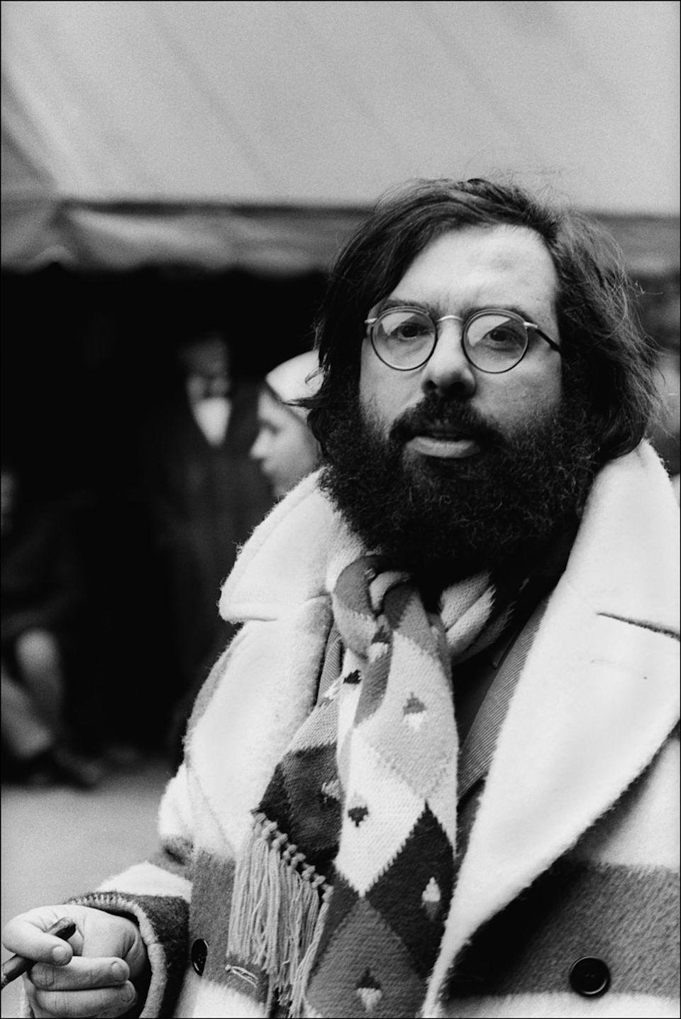 <p>Director Francis Ford Coppola on set of <em>The Godfather</em>. Coppola had already made a name for himself after directing <em>Finian's Rainbow</em> in 1968 and <em>Patton </em>in 1970. However, he reached meteoric success when <em>The Godfather</em> premiered in 1972. </p>