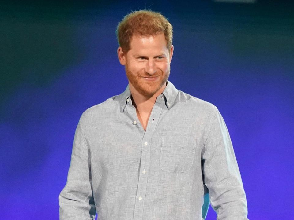 Prince Harry, Duke of Sussex speaks at 'Vax Live: The Concert to Reunite the World' (Jordan Strauss/Invision/AP)