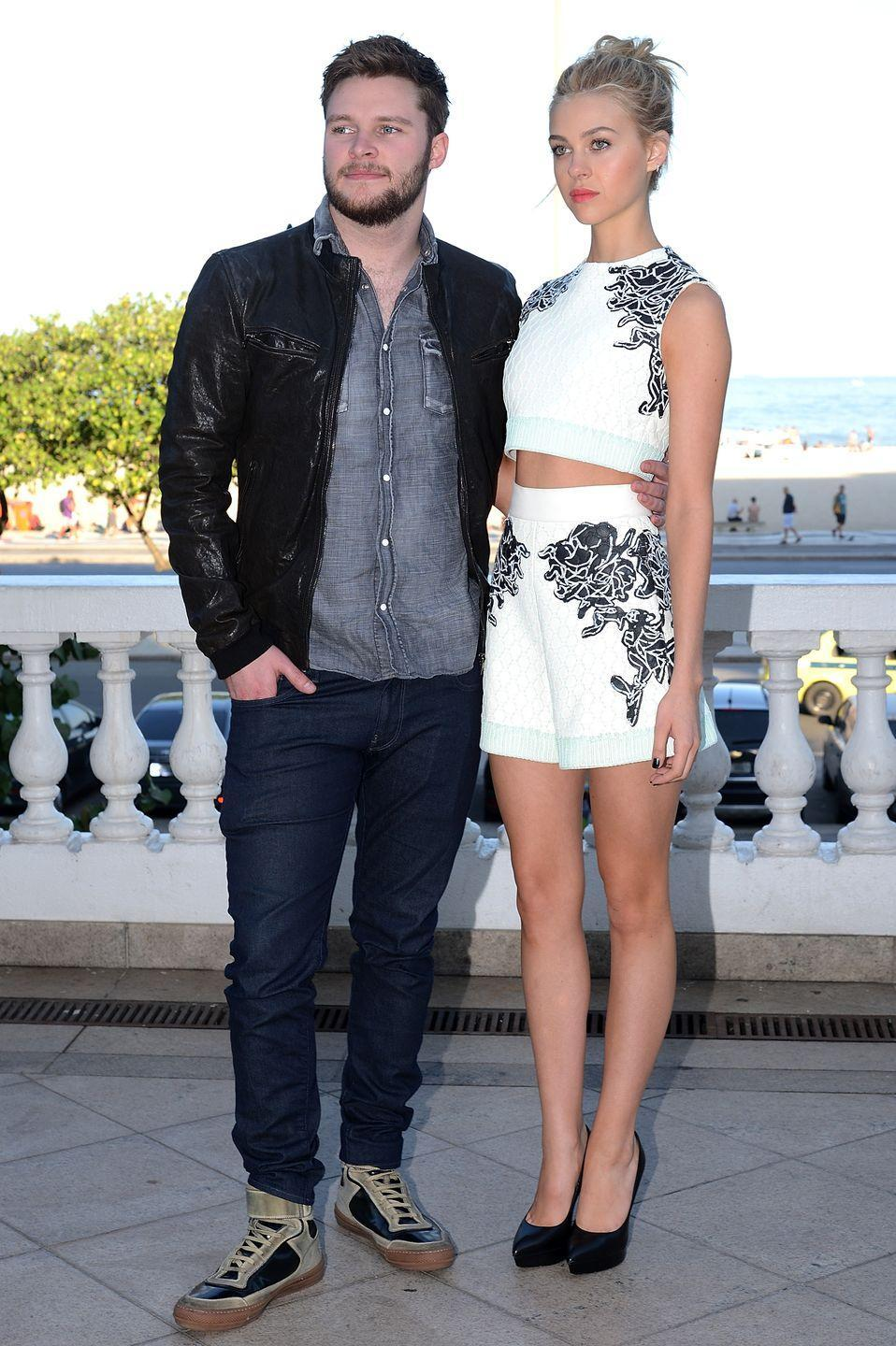 <p>The star wore a white two-piece shorts Balenciaga number to the the Transformers film's Rio de Janeiro photocall. <br></p>