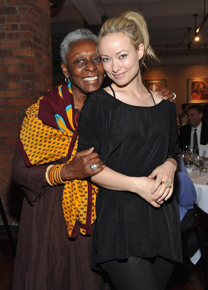NEW YORK, NY - APRIL 19:  Bethann Hardison and actress Olivia Wilde attend the 2012 Tribeca Film Festival Jury lunch at the Tribeca Grill Loft on April 19, 2012 in New York City.  (Photo by Mike Coppola/Getty Images for Tribeca Film Festival)