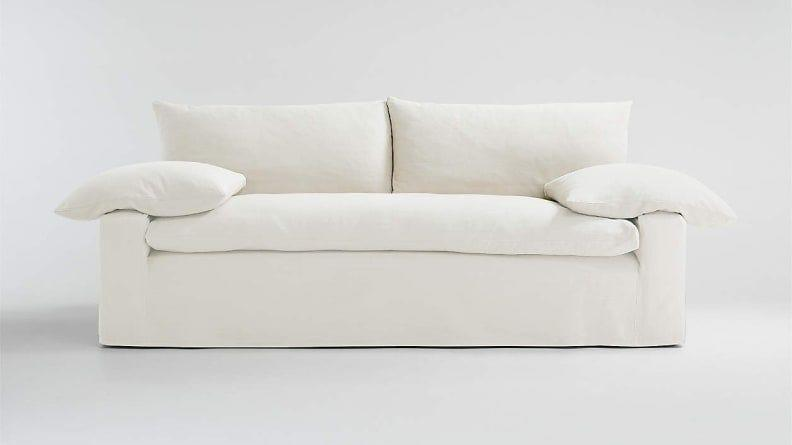 This sofa has the same feather-down cushions, but for significantly less.