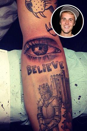 Justin Bieber brought in some supervision via a tattoo of his mom's eye. (Photo: Getty Images/ Justin Bieber via Instagram)
