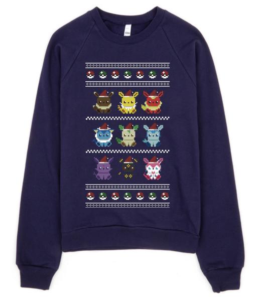 """<p>For that one friend who is <i>still</i> playing Pokemon Go. Get it <a rel=""""nofollow"""" href=""""https://www.storenvy.com/products/15054078-pokemon-christmas-sweater-unisex-s-xxl-tumblr-cute-cool-kawaii-seapunk""""><strong>here.</strong></a> </p>"""
