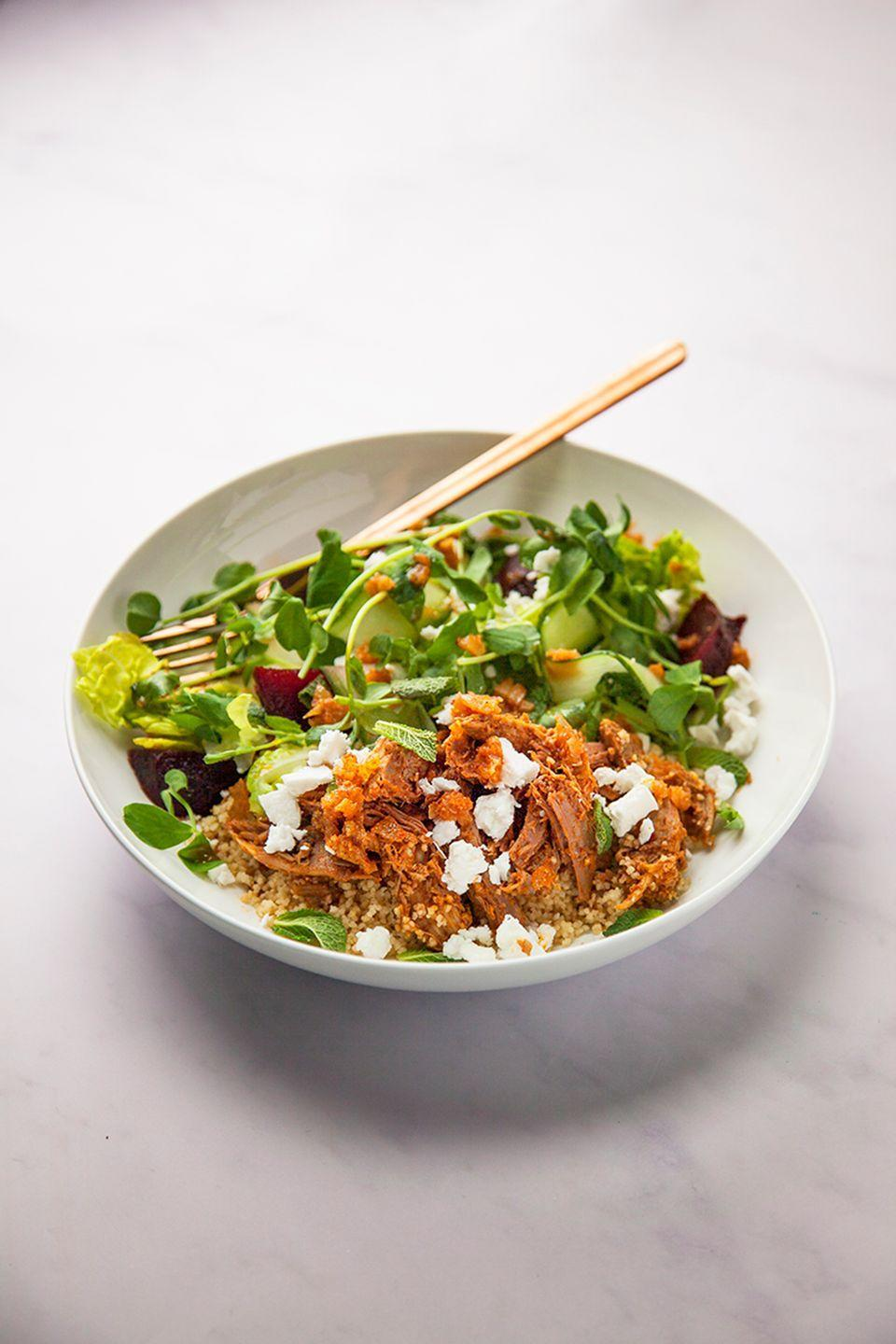 """<p>Don't fancy a huge roast dinner, or wondering what to do with leftover lamb? This salad is the perfect lunch or dinner option.</p><p><strong>Recipe: <a href=""""https://www.goodhousekeeping.com/uk/food/recipes/a26586362/leftover-lamb-salad/"""" rel=""""nofollow noopener"""" target=""""_blank"""" data-ylk=""""slk:Warm lamb salad"""" class=""""link rapid-noclick-resp"""">Warm lamb salad</a></strong></p>"""