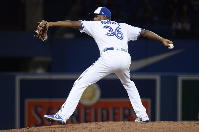 Toronto Blue Jays relief pitcher Carlos Ramirez still has a lot to prove, but he looks like a guy who's going to be almost impossible for right-handers to hit. (Nathan Denette/CP)