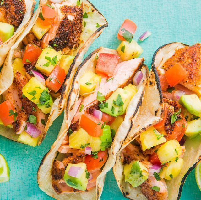 """<p>We loooooove the <a href=""""https://www.delish.com/uk/cooking/recipes/a32431738/turkey-taco-lettuce-wraps-recipe/"""" rel=""""nofollow noopener"""" target=""""_blank"""" data-ylk=""""slk:tacos"""" class=""""link rapid-noclick-resp"""">tacos</a>, and these taco recipes are seriously good. Whether you're after a simple fish taco recipe, a tasty beef taco, a healthy chicken taco or even a vegan taco, we have you covered. </p><p>Want more Mexican-inspired recipes? <a href=""""https://www.delish.com/uk/cooking/recipes/g32250336/mexican-recipes/"""" rel=""""nofollow noopener"""" target=""""_blank"""" data-ylk=""""slk:Check out our favourites"""" class=""""link rapid-noclick-resp"""">Check out our favourites</a>. </p>"""