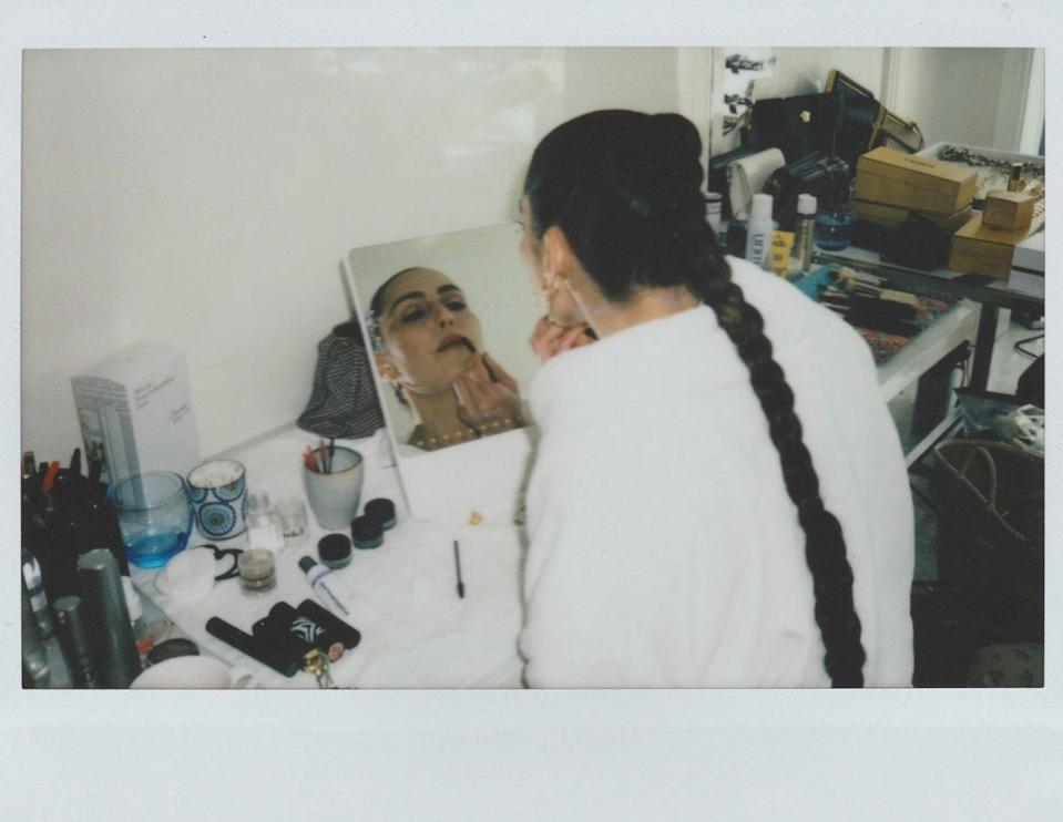 """""""Noomi has her own makeup she likes to use,"""" says McIntosh of the """"very basic"""" makeup the pair worked on together."""