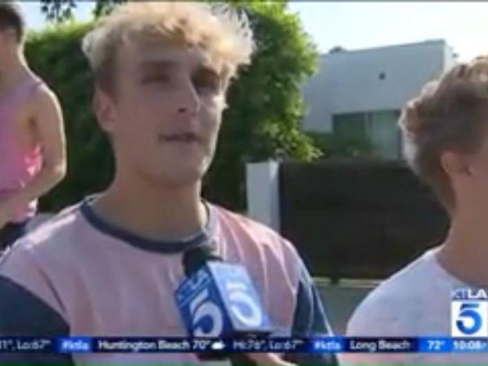 Jake Paul on KTLA.