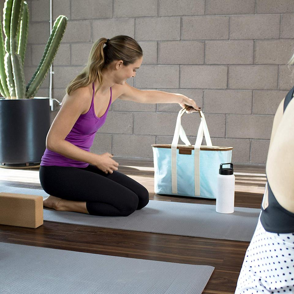 Get the piece of mind that comes from knowing your everyday bag can handle anything you throw in it. Namaste! (Photo: Amazon)