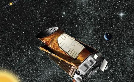 An artist's composite of the Kepler telescope is seen in this undated NASA handout image.  REUTERS/NASA/Handout via Reuters