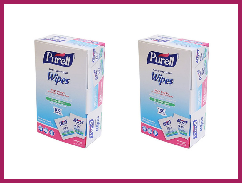 Purell Sanitizing Hand Wipes Individually Wrapped 100-count Box (two-pack). (Photo: Amazon)