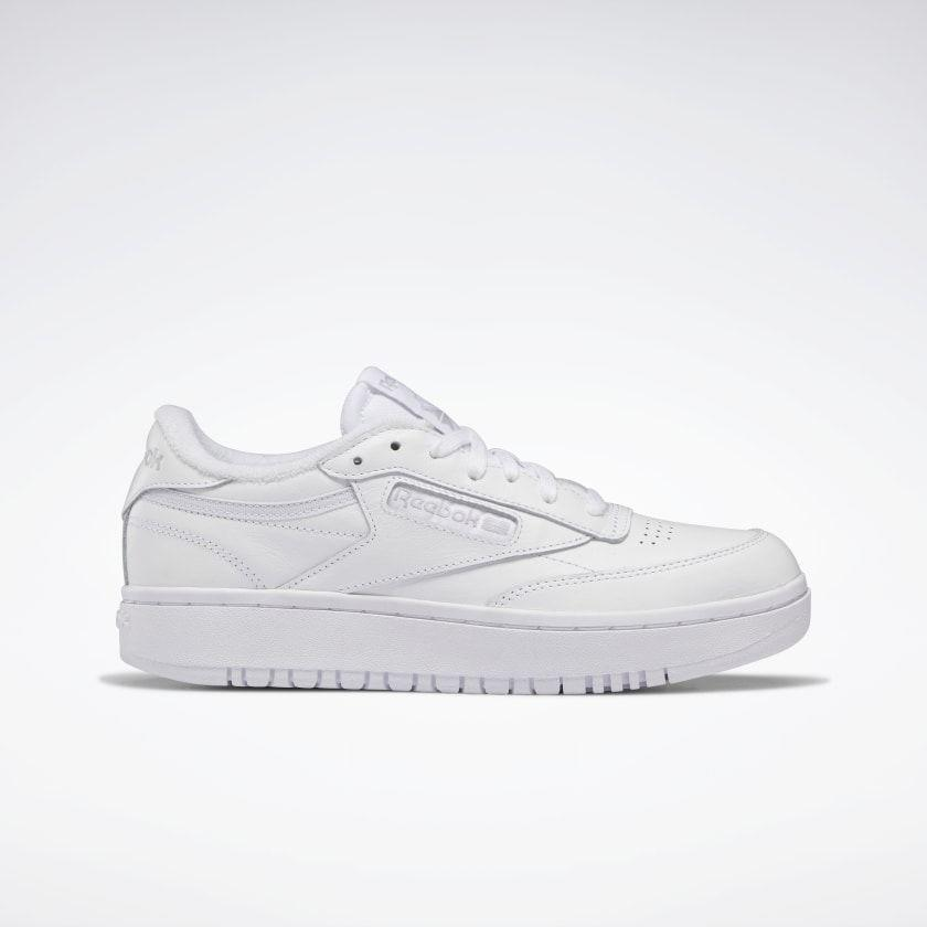"""<p><strong>Reebok</strong></p><p>reebok.com</p><p><strong>$80.00</strong></p><p><a href=""""https://go.redirectingat.com?id=74968X1596630&url=https%3A%2F%2Fwww.reebok.com%2Fus%2Fclub-c-double-shoes%2FGW0854.html&sref=https%3A%2F%2Fwww.townandcountrymag.com%2Fsociety%2Ftradition%2Fg37681411%2Fprincess-diana-sweatshirt-biker-shorts-outfit-inspiration%2F"""" rel=""""nofollow noopener"""" target=""""_blank"""" data-ylk=""""slk:Shop Now"""" class=""""link rapid-noclick-resp"""">Shop Now</a></p><p>Why fix what isn't broken? Diana, once again, opted for some chunky white kicks. </p>"""