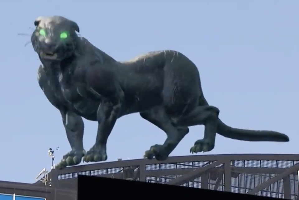 The Carolina Panthers used AR to show a panther inside the stadium. (Photo: @Panthers/Twitter)