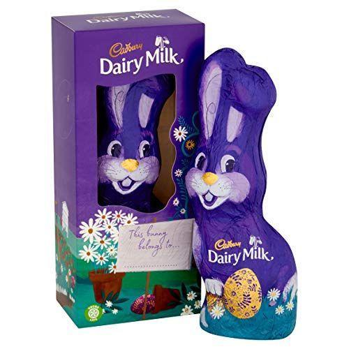 """<p><strong>Cadbury</strong></p><p>amazon.com</p><p><strong>$15.00</strong></p><p><a href=""""https://www.amazon.com/dp/B082Q8JDT7?tag=syn-yahoo-20&ascsubtag=%5Bartid%7C2164.g.35452335%5Bsrc%7Cyahoo-us"""" rel=""""nofollow noopener"""" target=""""_blank"""" data-ylk=""""slk:Shop Now"""" class=""""link rapid-noclick-resp"""">Shop Now</a></p><p>Cadbury eggs are an Easter classic. Pair them with this hollow milk chocolate bunny from the company!</p>"""