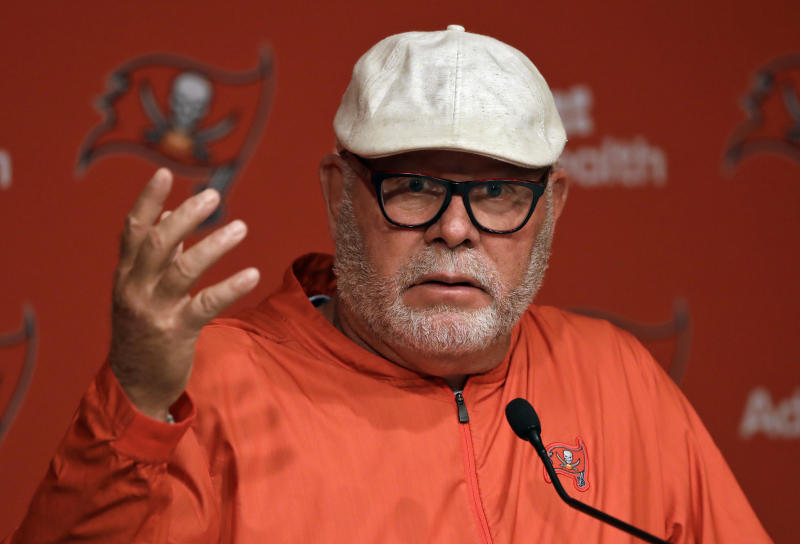Tampa Bay Buccaneers coach Bruce Arians has been a leader for diversity in the NFL. (AP Photo/Chris O'Meara)