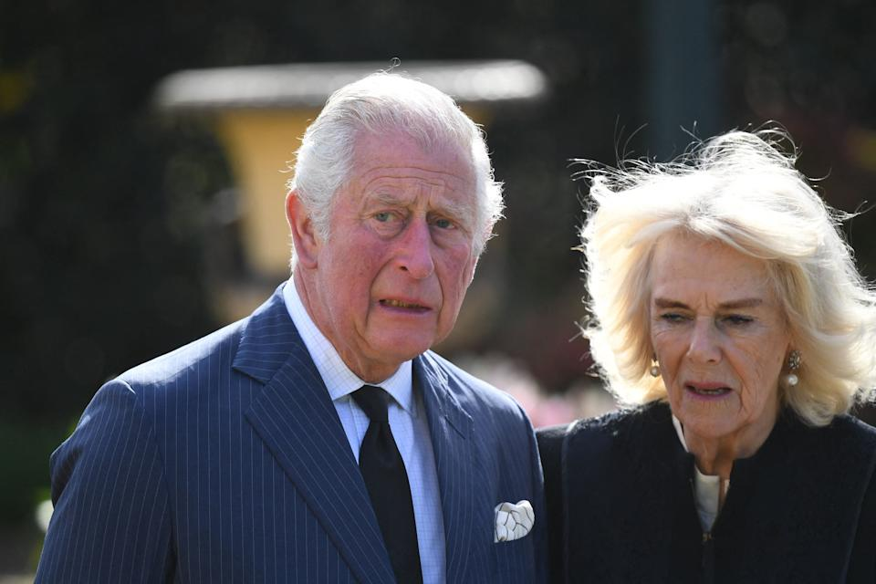 Prince Charles and Camilla's visit to Prince Philip's memorial