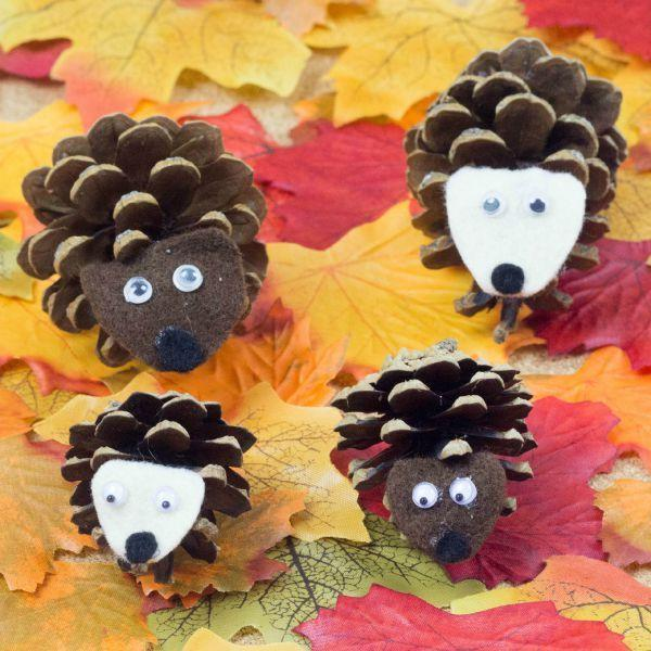 """<p>Turn a pinecone on its side, and you've got the perfect """"spikes"""" for hedgehogs. Move over, Sonic!</p><p><em><a href=""""https://www.muminthemadhouse.com/pinecone-hedgehogs/"""" rel=""""nofollow noopener"""" target=""""_blank"""" data-ylk=""""slk:Get the tutorial at Mum in the Madhouse »"""" class=""""link rapid-noclick-resp"""">Get the tutorial at Mum in the Madhouse »</a> </em></p>"""
