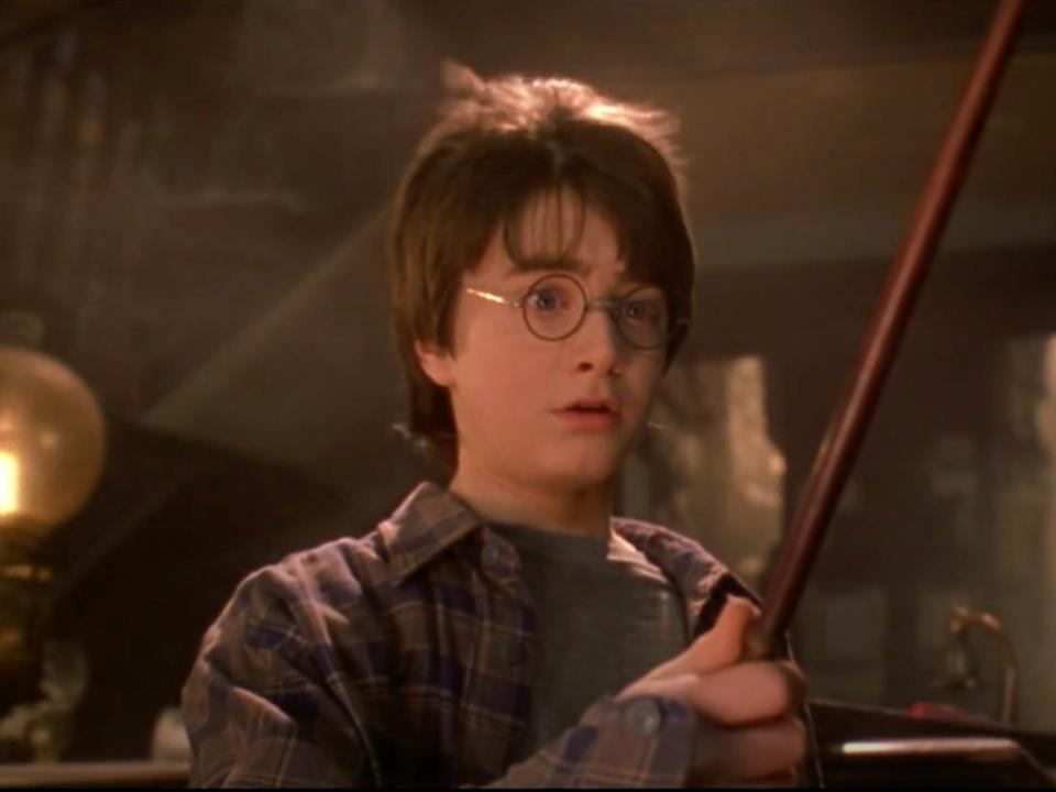 Daniel Radcliffe as Harry Potter in Harry Potter and the Philosopher's Stone (YouTube/Warner Bros)
