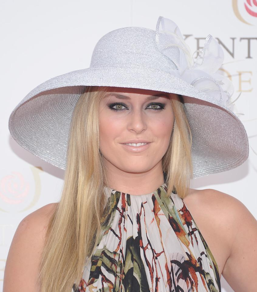 LOUISVILLE, KY - MAY 05:  Professional Skier Lindsey Vonn attends the 138th Kentucky Derby at Churchill Downs on May 5, 2012 in Louisville, Kentucky.  (Photo by Michael Loccisano/Getty Images)