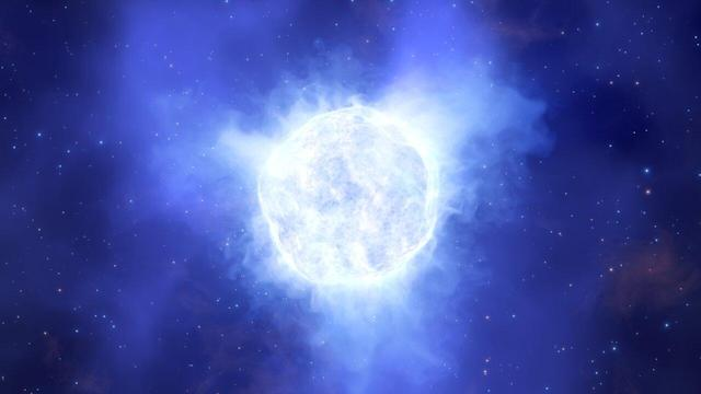 What the luminous blue variable star in the Kinman Dwarf galaxy could have looked like before its mysterious disappearance.