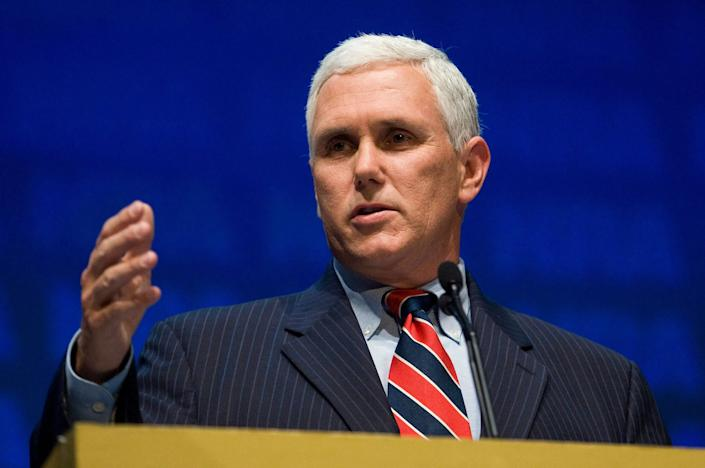 "In March 2015, Pence&nbsp;<a href=""http://www.huffingtonpost.com/2015/03/26/indiana-governor-mike-pence-anti-gay-bill_n_6947472.html"" rel=""nofollow noopener"" target=""_blank"" data-ylk=""slk:signed Indiana's&nbsp;Religious Freedom Restoration Act"" class=""link rapid-noclick-resp"">signed Indiana's&nbsp;Religious Freedom Restoration Act</a>&nbsp;(or RFRA) into law, effectively legalizing discrimination against LGBT people across the state. The bill, which Vox called ""<a href=""http://www.vox.com/2016/7/14/12189750/mike-pence-trump-vp-lgbtq"" rel=""nofollow noopener"" target=""_blank"" data-ylk=""slk:one of the biggest political crises"" class=""link rapid-noclick-resp"">one of the biggest political crises</a>"" of Pence's career, allowed business owners to&nbsp;<a href=""http://www.huffingtonpost.com/2015/04/01/indiana-pizza-gay-couples_n_6985208.html"" rel=""nofollow noopener"" target=""_blank"" data-ylk=""slk:cite their religious beliefs"" class=""link rapid-noclick-resp"">cite their religious beliefs</a>&nbsp;as justification for turning away LGBT customers.&nbsp;&nbsp;<br> <br>The bill's passage sparked&nbsp;<a href=""http://theslot.jezebel.com/get-to-know-mike-pence-and-all-of-the-very-bad-legislat-1783733309"" rel=""nofollow noopener"" target=""_blank"" data-ylk=""slk:national controversy"" class=""link rapid-noclick-resp"">national controversy</a>, and in the end, was reported to have set the state back&nbsp;<a href=""https://www.americanprogress.org/issues/lgbt/news/2015/03/31/110232/indianas-religious-freedom-restoration-act-is-bad-for-business/"" rel=""nofollow noopener"" target=""_blank"" data-ylk=""slk:$250 million"" class=""link rapid-noclick-resp"">$250 million</a>.&nbsp;In April 2015, Pence signed <a href=""http://www.huffingtonpost.com/2015/04/02/mike-pence-religious-freedom_n_6996144.html"" rel=""nofollow noopener"" target=""_blank"" data-ylk=""slk:a revised version of the bill"" class=""link rapid-noclick-resp"">a revised version of the bill </a>into law that&nbsp;included language that&nbsp;<a href=""http://www.indystar.com/story/news/politics/2015/03/31/gov-mike-pence-hold-news-conference-clarify-religious-freedom-law/70712968/"" rel=""nofollow noopener"" target=""_blank"" data-ylk=""slk:explicitly barred businesses"" class=""link rapid-noclick-resp"">explicitly barred businesses</a> from denying services to customers on the basis of categories that include sexual orientation and gender identity. Many LGBT rights advocates <a href=""http://www.huffingtonpost.com/entry/mike-pence-things-to-know_us_5787c2b1e4b0867123e02df7"" rel=""nofollow noopener"" target=""_blank"" data-ylk=""slk:remained critical&nbsp;"" class=""link rapid-noclick-resp"">remained critical&nbsp;</a>of the revisions, saying that Indiana should have repealed the measure altogether."