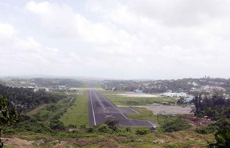 A general view of the runway controlled by the Indian military is pictured at Port Blair airport in Andaman and Nicobar Islands, India, July 4, 2015. REUTERS/Sanjeev Miglani