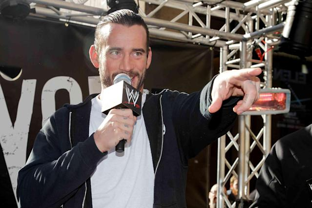 CM Punk received a special voicemail from The Rock on Monday night. (AP)