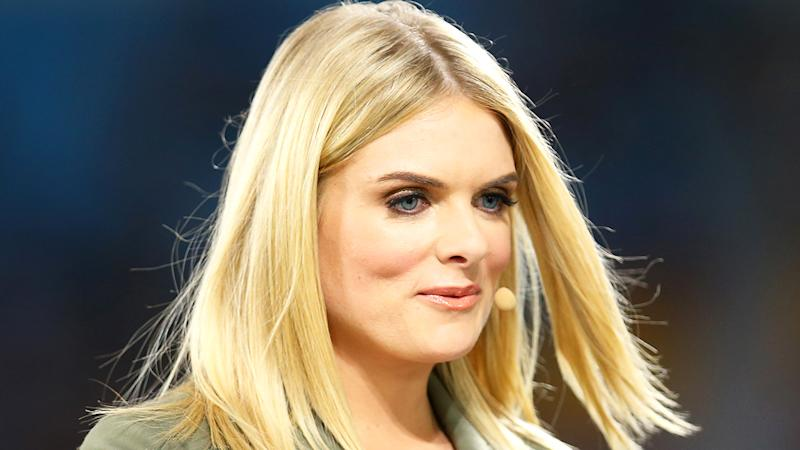Erin Molan, pictured broadcasting for Channel 9, has slammed those ignoring social distancing and self-isolation guidelines.