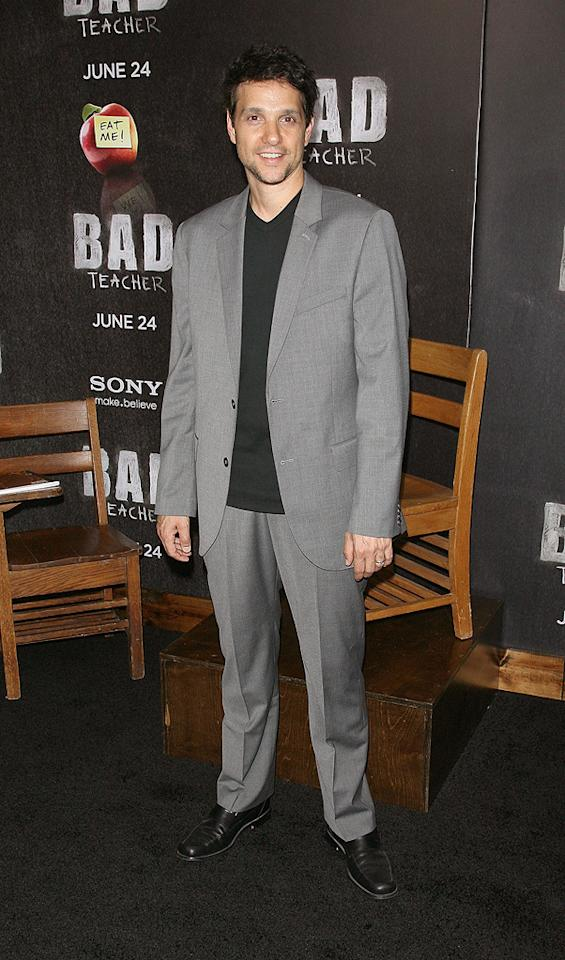 "<a href=""http://movies.yahoo.com/movie/contributor/1800052185"">Ralph Macchio</a> at the New York City premiere of <a href=""http://movies.yahoo.com/movie/1810150690/info"">Bad Teacher</a> on June 21, 2011."