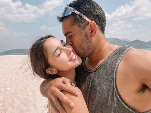 Julia Barretto confirmed her romance with Gerald Anderson when she posted a photo of them together