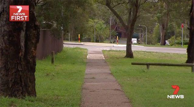 The path where the woman was attacked. Picture: 7 News