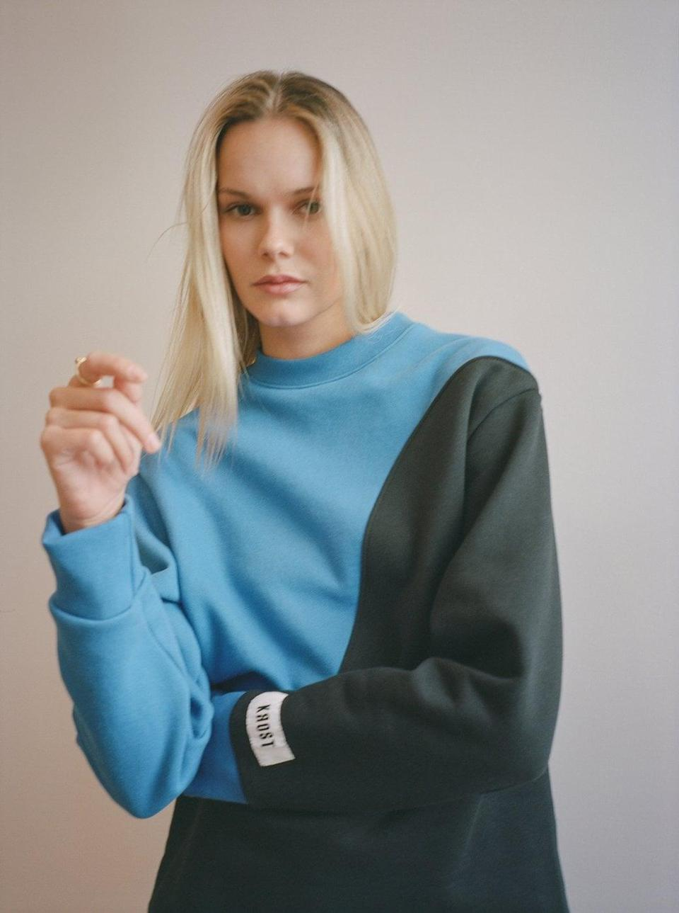 <p>KROST's latest collection features this crewneck which is crafted with 100% durable fleece. The line is created by upcycled fabris and is sourced, milled, designed &amp; produced in New York.</p> <p><strong>What We'd Buy</strong>: <span>KROST New York Upcycle Fleece Crewneck</span> ($118)</p>