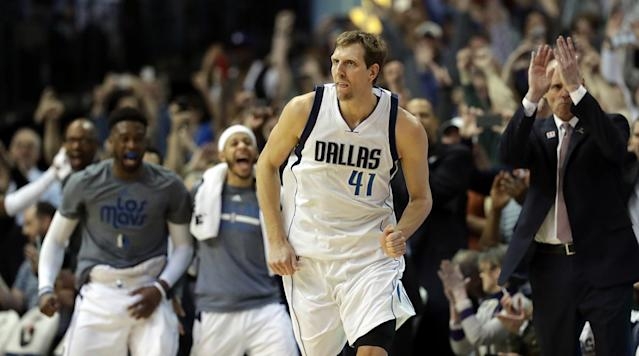 Dirk Nowitzki isn't ready to call it quits on his legendary NBA career. The Mavericks icon told reporters Thursday that he plans to suit up again next season.