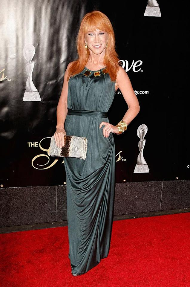 "The sassy and brassy star of ""My Life on the D-List,"" Kathy Griffin, looked flawless in a sexy sleeveless gown as she arrived at the 34th Annual Gracie Awards at the Marriott Marquis in NYC. Jemal Countess/<a href=""http://www.gettyimages.com/"" target=""new"">GettyImages.com</a> - June 3, 2009"