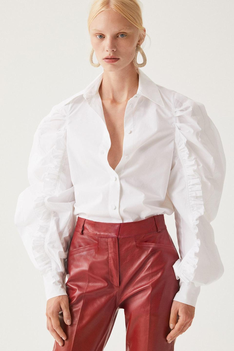 <p>Make a statement when you step out in this <span>Voluminous Cotton Shirt</span> ($80). </p>