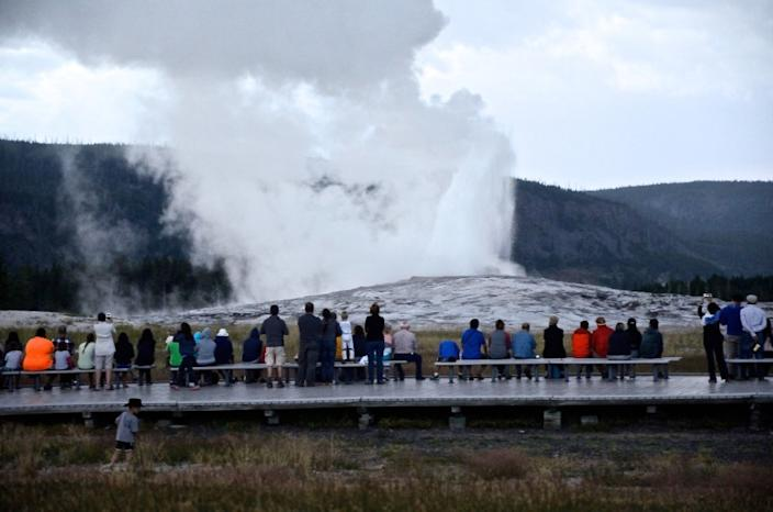The marquee attraction of Yellowstone National Park, Old Faithful geyser goes off about every 90 minutes. Eruptions can last from 90 seconds to five minutes.