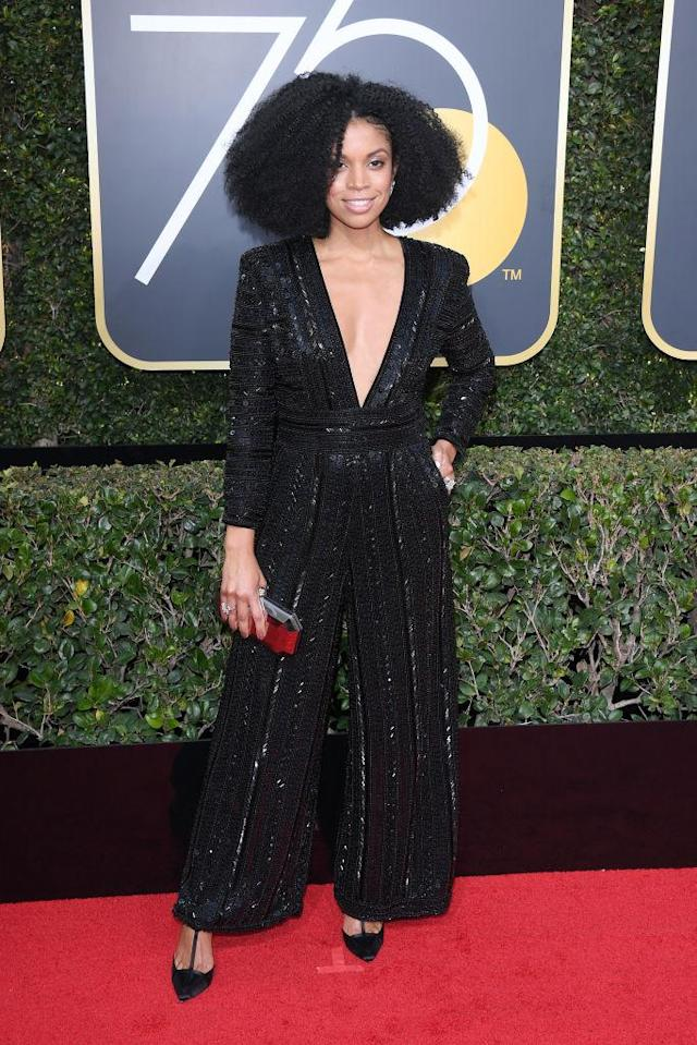 <p>The <em>This Is U</em>s actress attends the 75th Annual Golden Globe Awards at the Beverly Hilton Hotel in Beverly Hills, Calif., on Jan. 7, 2018. (Photo by Venturelli/WireImage) </p>