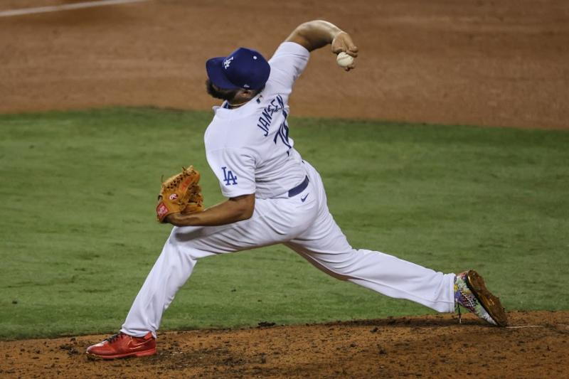 Los Angeles, CA, Wednesday, Sept. 30, 2020 - Los Angeles Dodgers relief pitcher Kenley Jansen.
