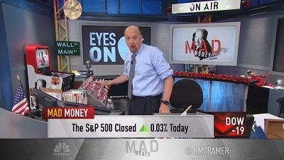 Jim Cramer bit into Apple earnings, and explained why the stock traded up after hours following earnings.