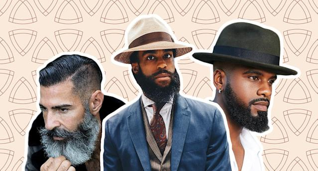 "These bearded men have grooming tips to keep your facial hair fresh. (Photos: Kevin McDermott,  <a href=""https://www.instagram.com/sutthastudio/"" rel=""nofollow noopener"" target=""_blank"" data-ylk=""slk:Sutthaya Chalassathien"" class=""link rapid-noclick-resp"">Sutthaya Chalassathien</a>,  <a href=""http://www.instagram.com/emptycanon"" rel=""nofollow noopener"" target=""_blank"" data-ylk=""slk:Bryon Brown"" class=""link rapid-noclick-resp"">Bryon Brown</a>/Getty Images/Art: Kenneth Bachor)"