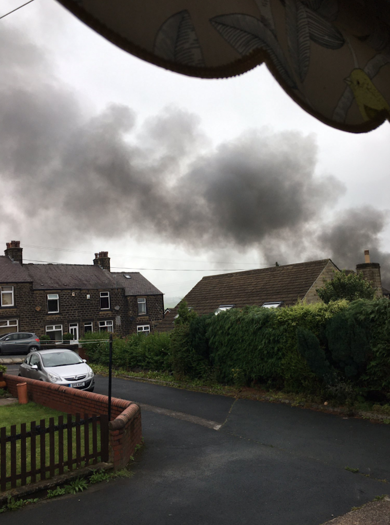 A man was airlifted to hospital after the explosion