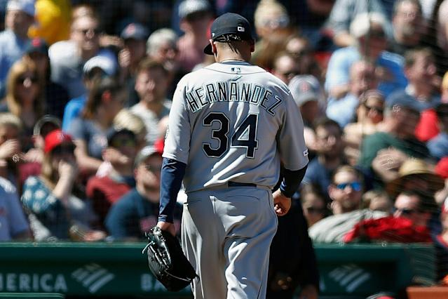 Mariners starter Félix Hernández once looked like a surefire Hall of Fame lock. (AP Photo/Michael Dwyer)