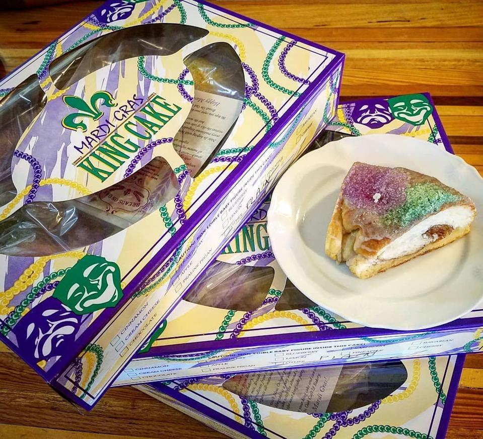 """<p>I know, I know—you were looking through this list thinking, but where's the vegan king cake?! Well, here it is, friends. Those who follow a vegan diet flock to this every Carnival season. This year, bakers introduced a Tiramisu flavor.</p><p><a class=""""link rapid-noclick-resp"""" href=""""http://www.vegankingcake.com/"""" rel=""""nofollow noopener"""" target=""""_blank"""" data-ylk=""""slk:ORDER TODAY"""">ORDER TODAY</a></p>"""