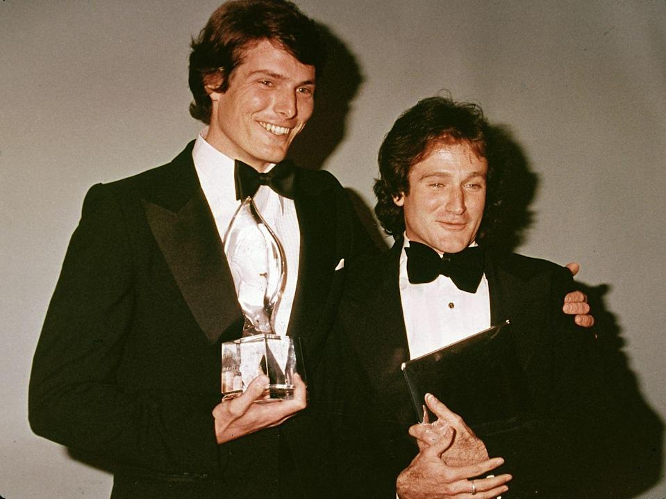 """<p>In the early '70s, Williams and Reeve were roommates while studying at the Juilliard School of Drama in New York City. The duo <a href=""""http://www.dailymail.co.uk/news/article-2722888/Closer-brothers-Robin-Williams-extraordinary-friendship-Christopher-Reeve-penniless-roommates-Hollywood-highs-helping-save-friends-life.html"""" rel=""""nofollow noopener"""" target=""""_blank"""" data-ylk=""""slk:remained friends after college"""" class=""""link rapid-noclick-resp"""">remained friends after college</a>, and Reeve's wife, Dana, once described them as """"closer than brothers.""""</p>"""