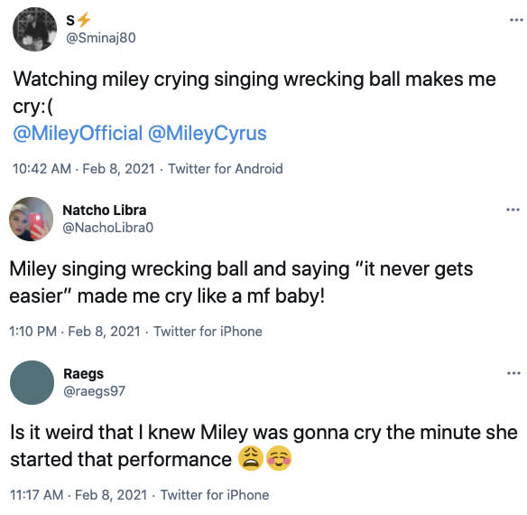 Tweets about Miley Cyrus