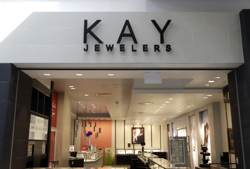 Kay Jewelers store is seen in Lincolnwood, Ill., Wednesday, March 14, 2018. Signet Jewelers Ltd. will close more than 200 stores and expects a profit slump in 2019 as it faces an increasingly tough market for its Kay and Jared stores. (AP Photo/Nam Y. Huh)