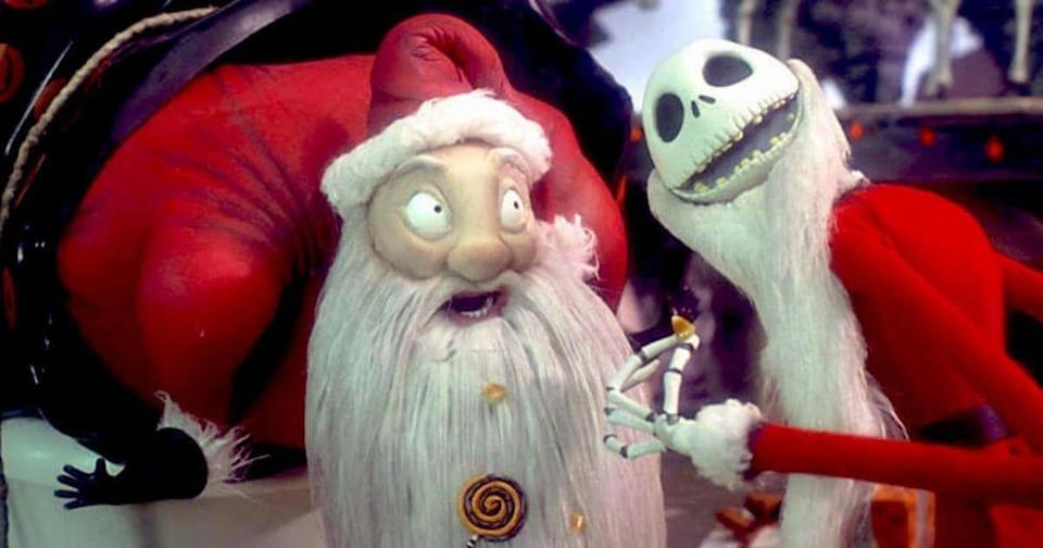 """<p>The only Christmas move you can appropriately start watching in September, <em>The Nightmare Before Christmas</em> is a stop-motion holiday mash-up. If someone tells you it's too Halloweeny for December, point out that it's the movie that gave us """"What's This?""""— aka one of <a href=""""https://www.goodhousekeeping.com/holidays/christmas-ideas/g2680/christmas-songs/"""" rel=""""nofollow noopener"""" target=""""_blank"""" data-ylk=""""slk:the greatest Christmas songs of all time"""" class=""""link rapid-noclick-resp"""">the greatest Christmas songs of all time</a>.</p><p><a class=""""link rapid-noclick-resp"""" href=""""https://go.redirectingat.com?id=74968X1596630&url=https%3A%2F%2Fwww.disneyplus.com%2Fmovies%2Ftim-burtons-the-nightmare-before-christmas%2F5GjwOj5Rkpz2&sref=https%3A%2F%2Fwww.goodhousekeeping.com%2Fholidays%2Fchristmas-ideas%2Fg30220963%2Fdisney-plus-christmas-movies%2F"""" rel=""""nofollow noopener"""" target=""""_blank"""" data-ylk=""""slk:WATCH ON DISNEY+"""">WATCH ON DISNEY+</a></p>"""