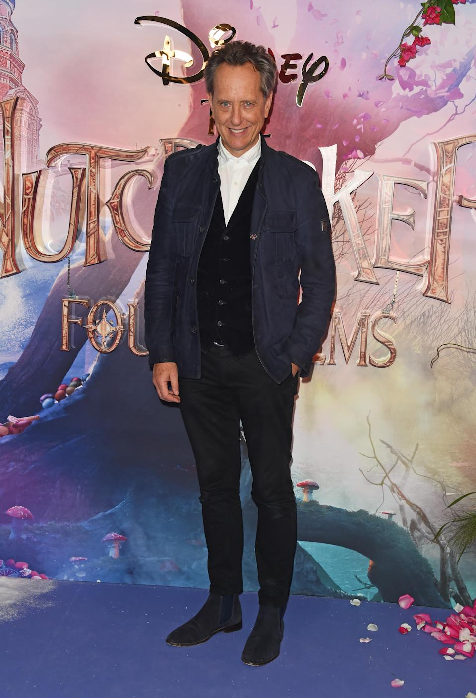 <p>The British star worked a waistcoat and suit for the premiere of his new film. <em>[Photo: Getty]</em> </p>