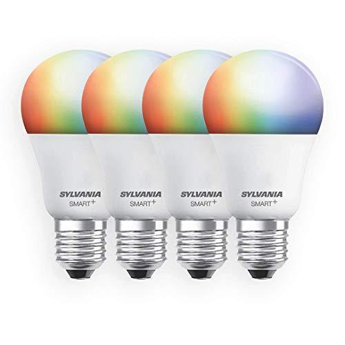 SYLVANIA Smart+ Wi-Fi Full Color Dimmable A19 LED Light Bulb, CRI 90+, 60W Equivalent, Compatib…